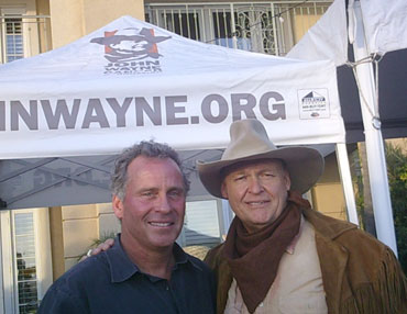 Michael Doing His John Wayne Impression For Ethan Wayne At The Balboa Bay Club Chili Cookoff